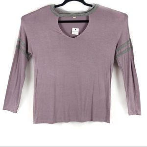SOFT TOP BY ULTRA FLIRT  EGGPLANT COLOR JR SIZE